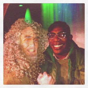 Brian Babylon with Scrooge at A Klingon Christmas Carol