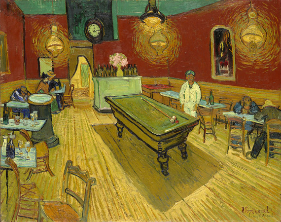 """Night Cafe"" by Vincent Van Gogh. Inspiration for the play ""The Night Cafe"" by Rory Leahy, which is directed by Erik Parsons."